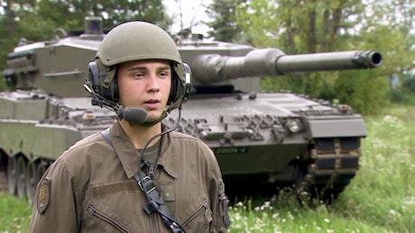 Fahrer Kampfpanzer